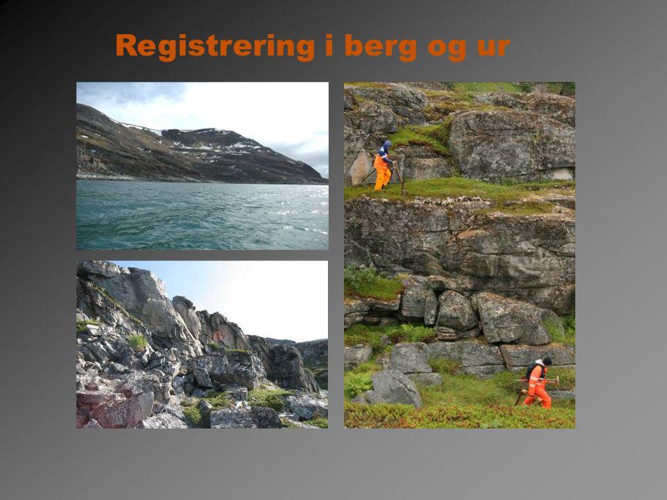 Registrering i berg og ur