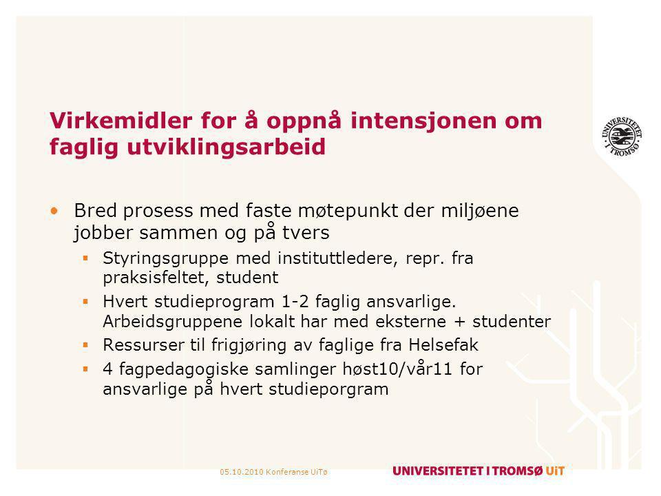 05.10.2010 Konferanse UiTø Til diskusjon 1.Hvordan er bruken av aktive verb.