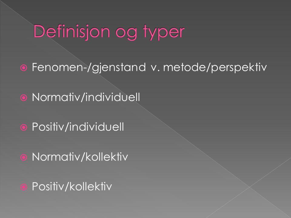  Åpenbare eksempler (penger, skatt og konkurranse)  Bevis  Tolkning (interpretation and contruction)  Kritikk