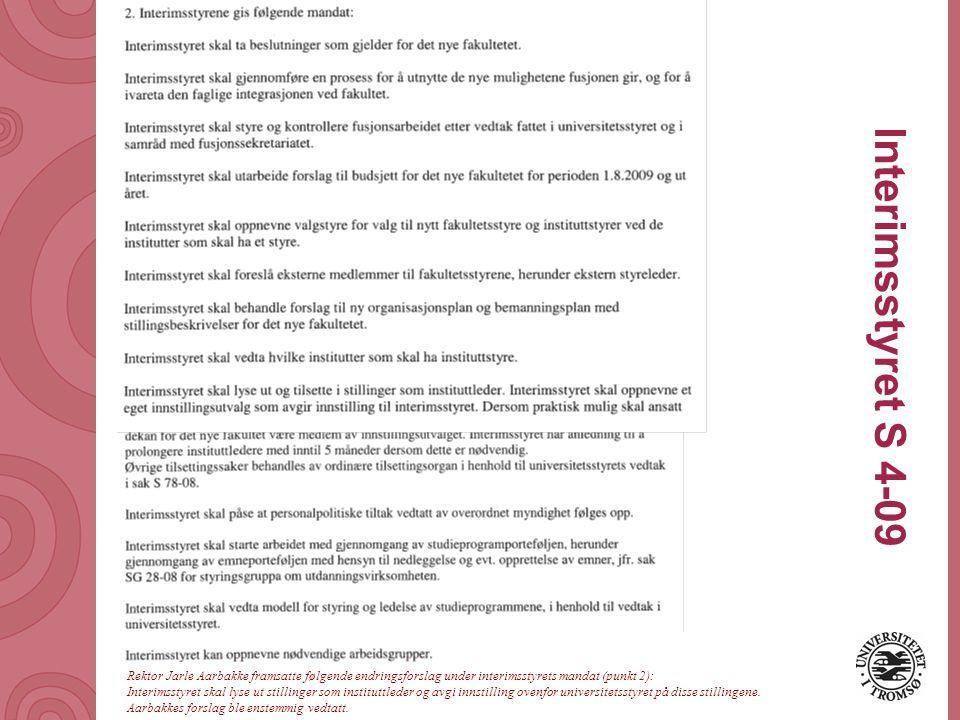 Universitetet i Tromsø – Det medisinske fakultet uit.no Aktuelle dokumenter S 65-08 Organisering av fakultet 1 Brev fra universitetsdirektør 200804487-11 Omstillingshåndboka med vedlegg Universitetsstyremøte 5.