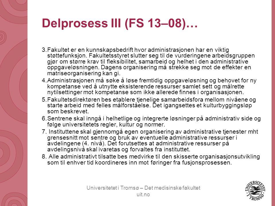 Universitetet i Tromsø – Det medisinske fakultet uit.no Utsikten bakfra Utsikten forfra