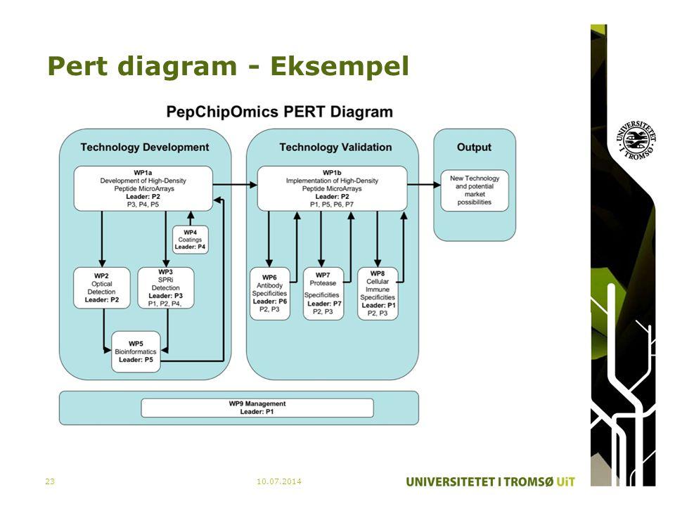 Pert diagram - Eksempel 10.07.201423