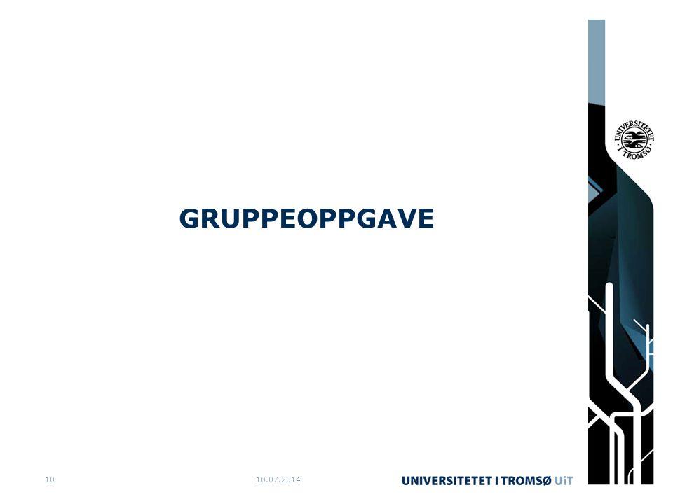 GRUPPEOPPGAVE 10.07.201410