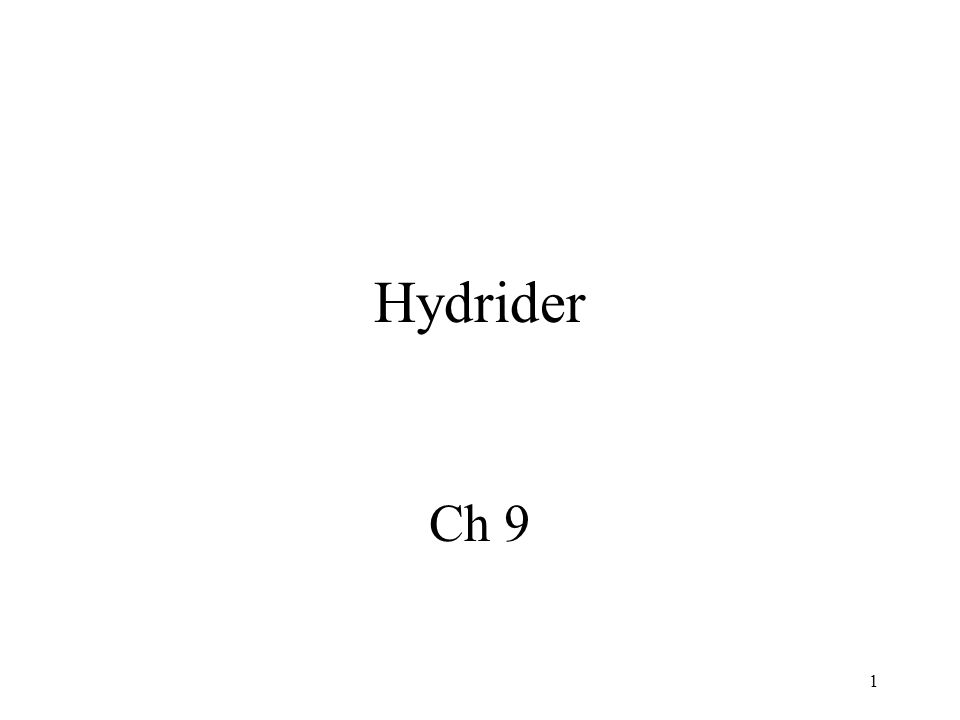1 Hydrider Ch 9