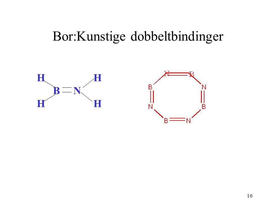 16 Bor:Kunstige dobbeltbindinger H B N H