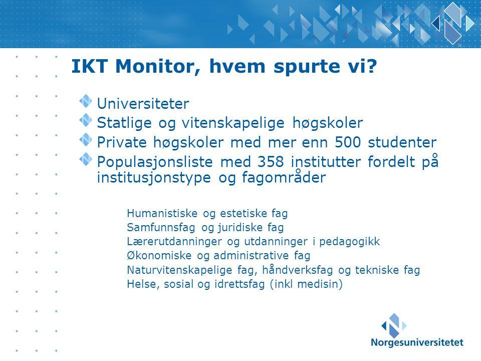 IKT Monitor, hvem spurte vi.