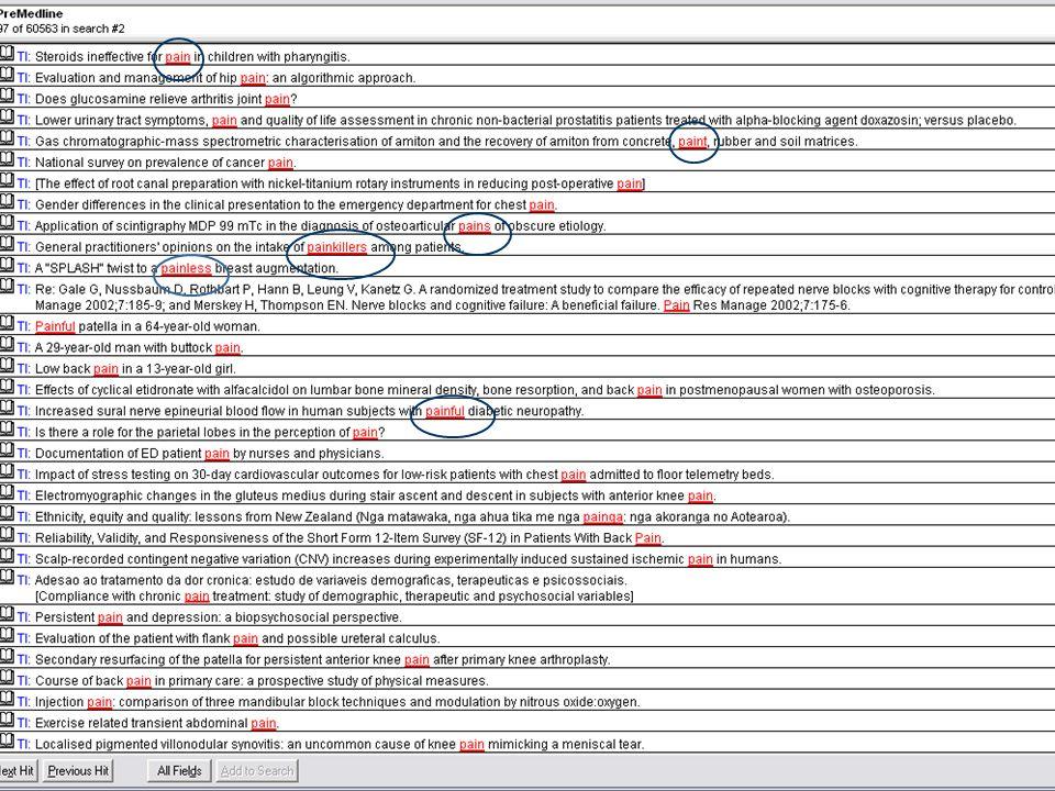 Søking på Emneord - MeSH  Oppslag i Thesaurus  Explode funksjon  Suggest fuksjon