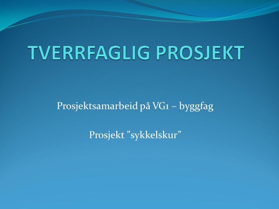 """Prosjektsamarbeid på VG1 – byggfag Prosjekt """"sykkelskur"""""""