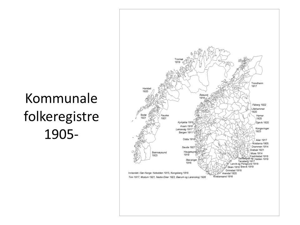 Kommunale folkeregistre 1905-
