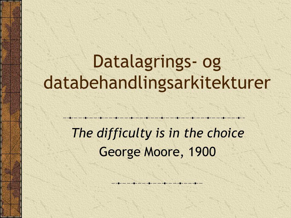 Replikering Full replikering Tabeller er duplisert på hvert sted Forbedret dataintegritet Raskere databehandling Dyrere Partiell replikering Bare indeksene replikeres og gir raskere spørringer Henting fra fjerndatabasen