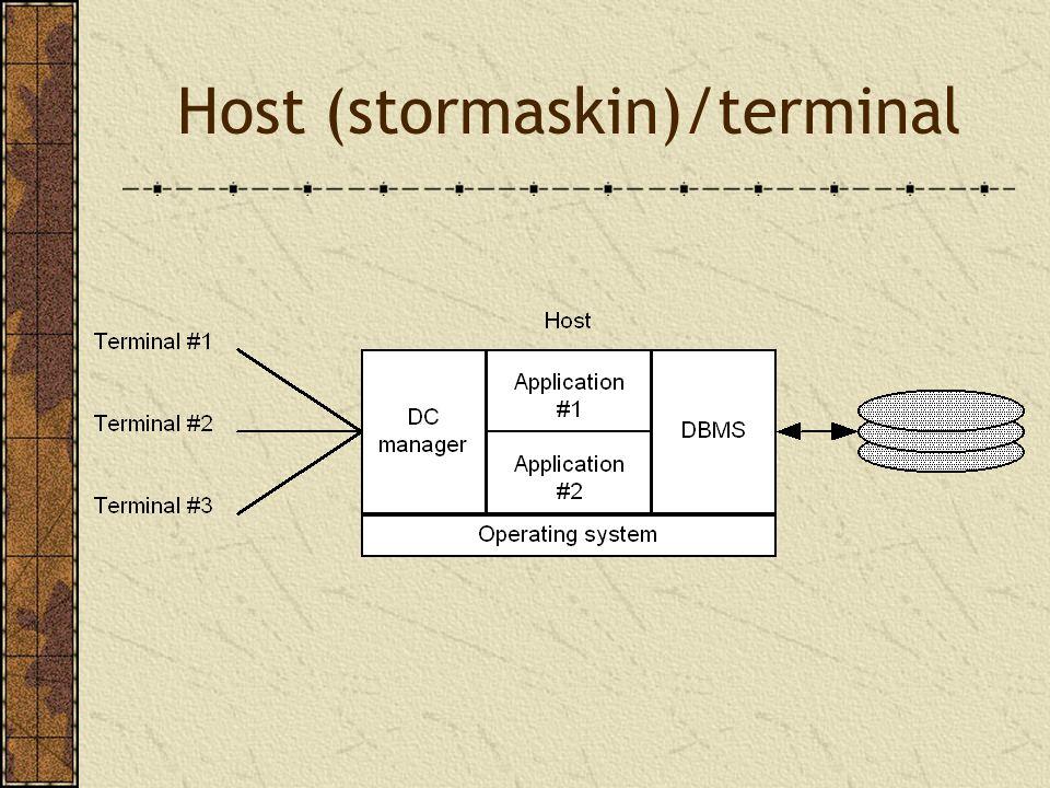 Host (stormaskin)/terminal