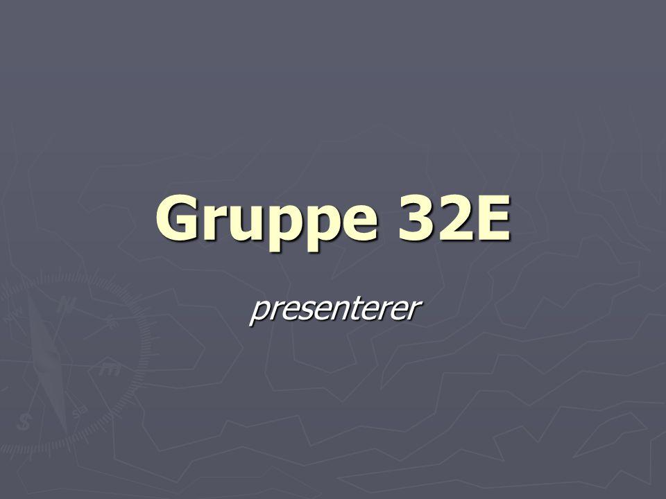 Gruppe 32E presenterer