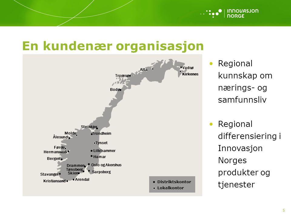 16 Profilering Omdømmeprogrammet Profilering av Norges som reisemål Norske fellesstands i utlandet Næringslivsdelegasjoner Visit Norway