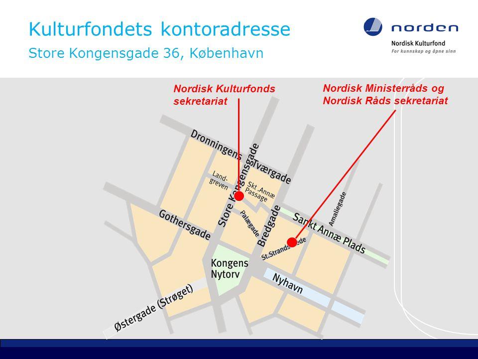 Kontaktopplysninger Nordisk Kulturfond kulturfonden@norden.org www.nordiskkulturfond.org Tlf.
