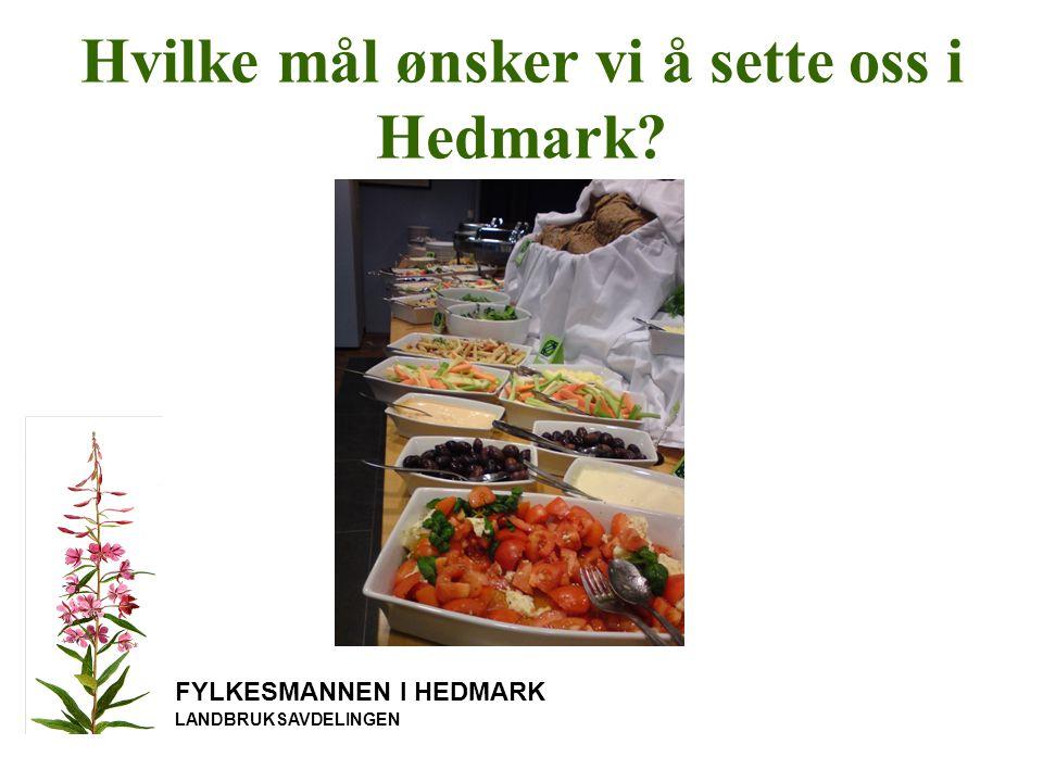 Hvilke mål ønsker vi å sette oss i Hedmark? FYLKESMANNEN I HEDMARK LANDBRUKSAVDELINGEN
