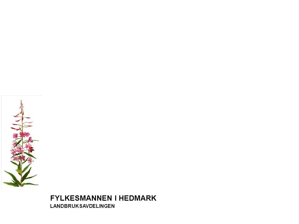 FYLKESMANNEN I HEDMARK LANDBRUKSAVDELINGEN