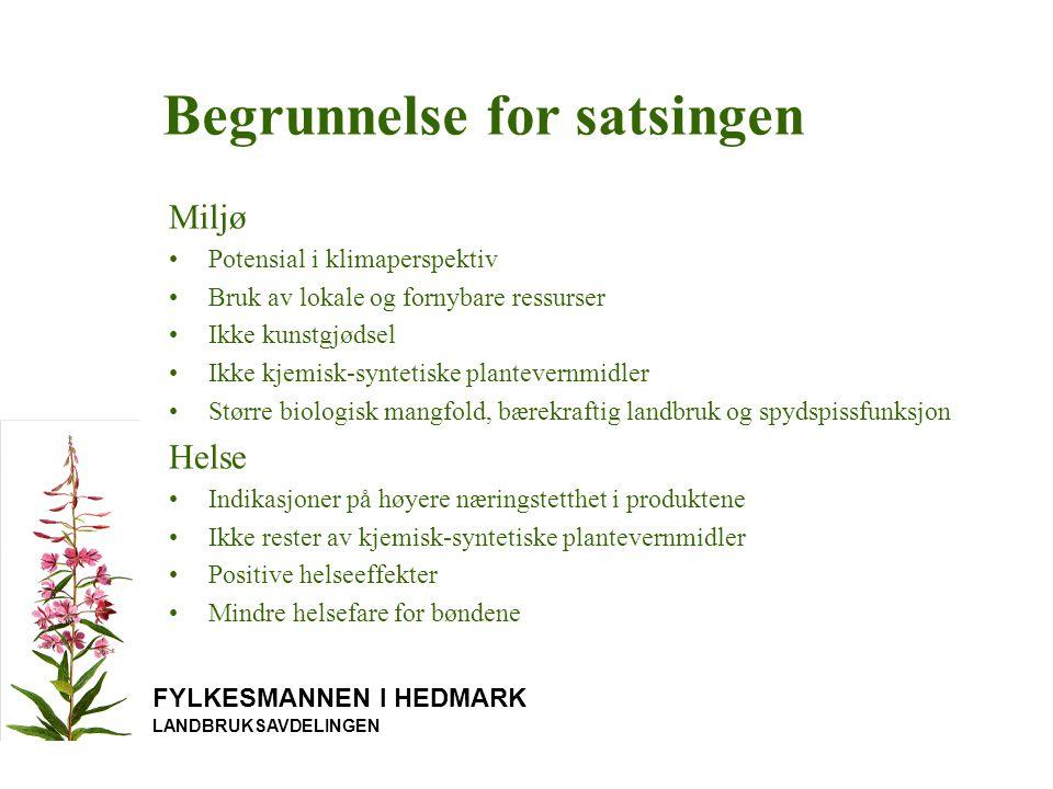 FYLKESMANNEN I HEDMARK LANDBRUKSAVDELINGEN Økologisk grønnsakproduksjon, grønnsakhage, skolehage med besøksordning, pedagogisk opplegg.