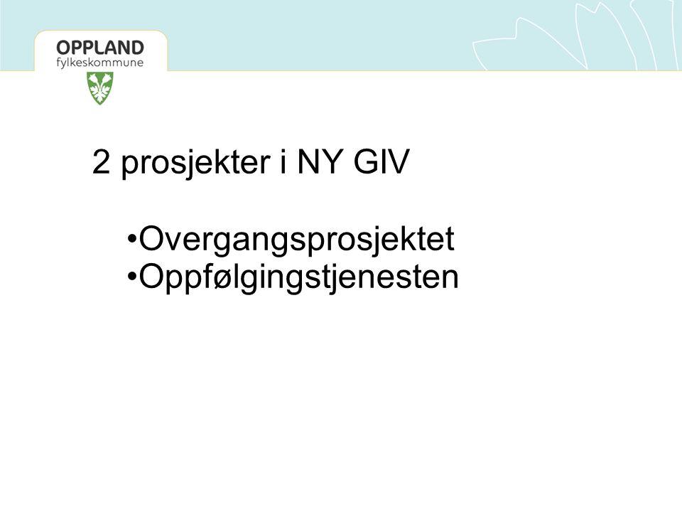 2 prosjekter i NY GIV Overgangsprosjektet Oppfølgingstjenesten