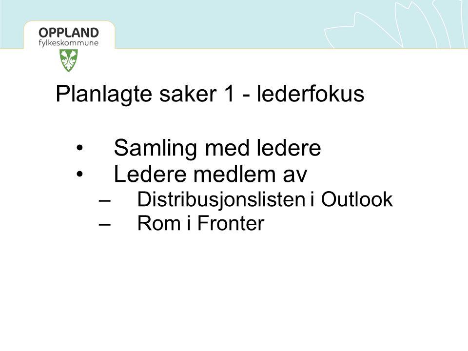 Planlagte saker 2 – knytte OT til karrieresentrene og kompetansehevningstiltak i regionene Nedfelt i ny avtale mellom NAV Oppland og Oppland fylkeskommune av april 2010 Klaus møter OT-team i alle regioner med rådgiverkoord.