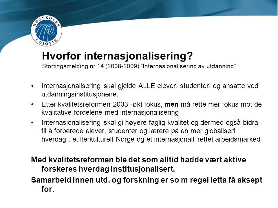 Hvorfor internasjonalisering.