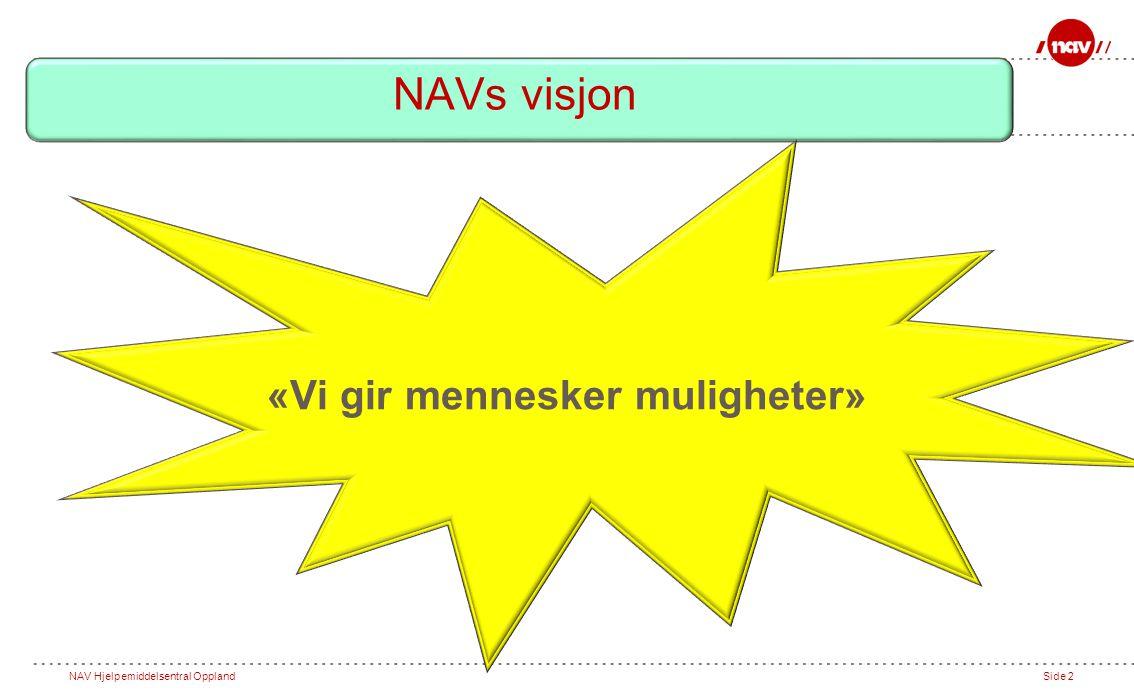Side 2 «Vi gir mennesker muligheter» NAVs visjon