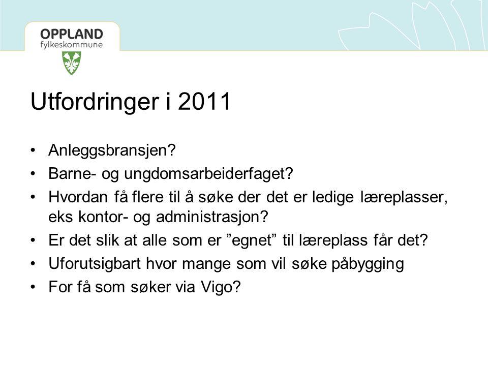 Utfordringer i 2011 Anleggsbransjen. Barne- og ungdomsarbeiderfaget.