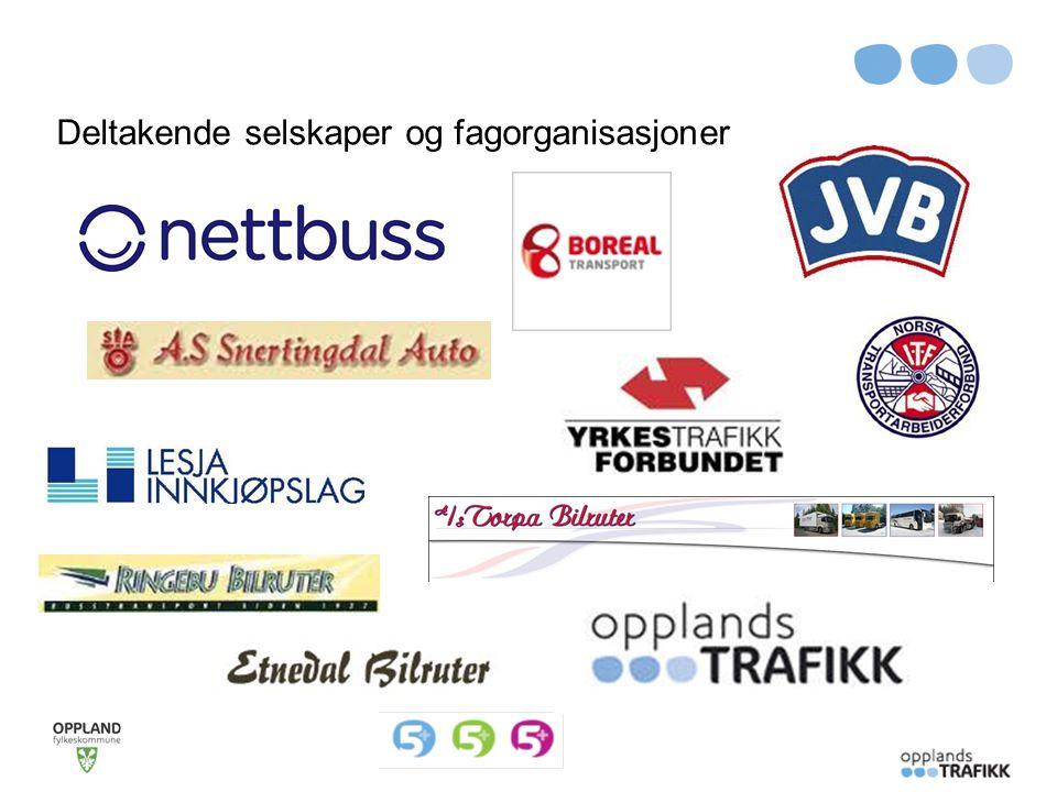 Deltakende selskaper og fagorganisasjoner