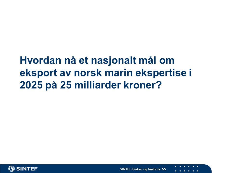 Hvordan nå et nasjonalt mål om eksport av norsk marin ekspertise i 2025 på 25 milliarder kroner?