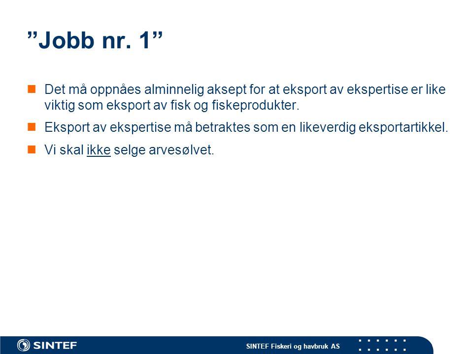 SINTEF Fiskeri og havbruk AS Jobb nr.