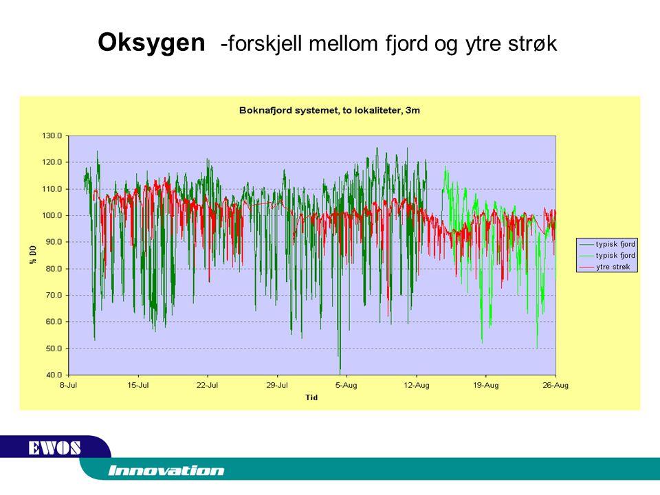 Oksygen -forskjell mellom fjord og ytre strøk