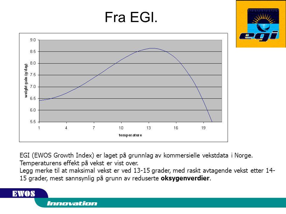 Fra EGI.EGI (EWOS Growth Index) er laget på grunnlag av kommersielle vekstdata i Norge.