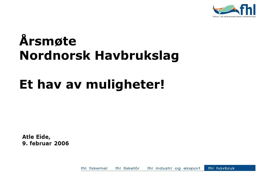 Årsmøte Nordnorsk Havbrukslag Et hav av muligheter! Atle Eide, 9. februar 2006