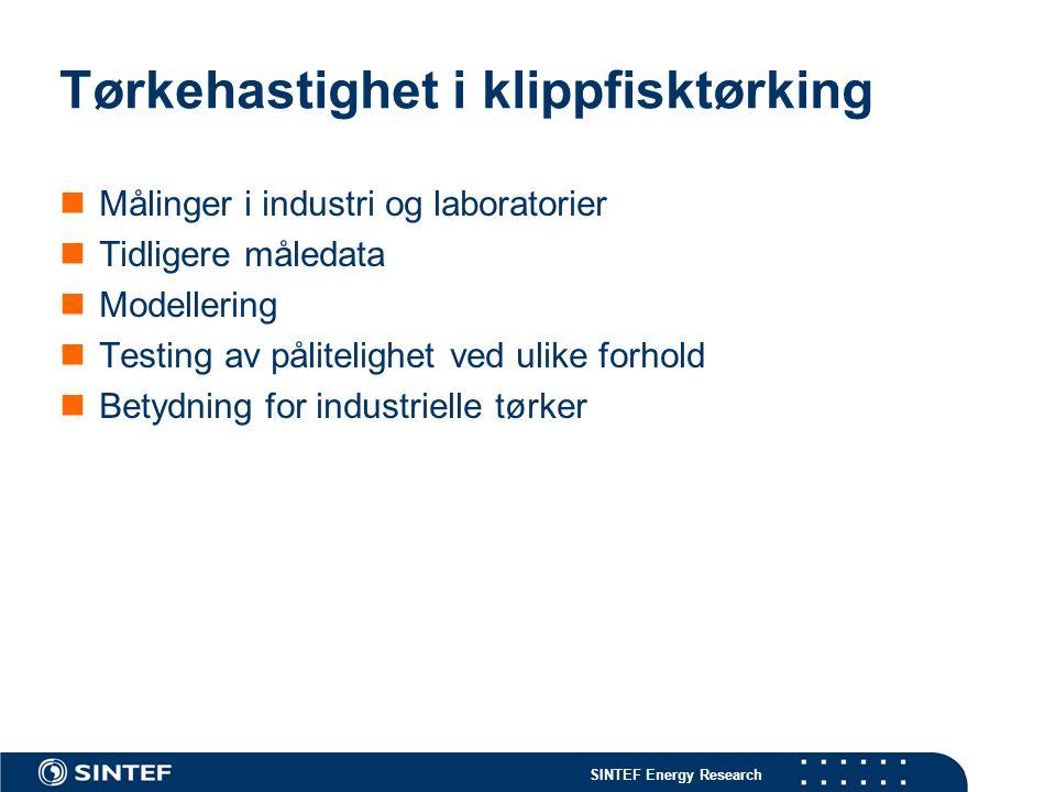 SINTEF Energy Research Vanninnholdet i saltfisk varierer lite i et parti