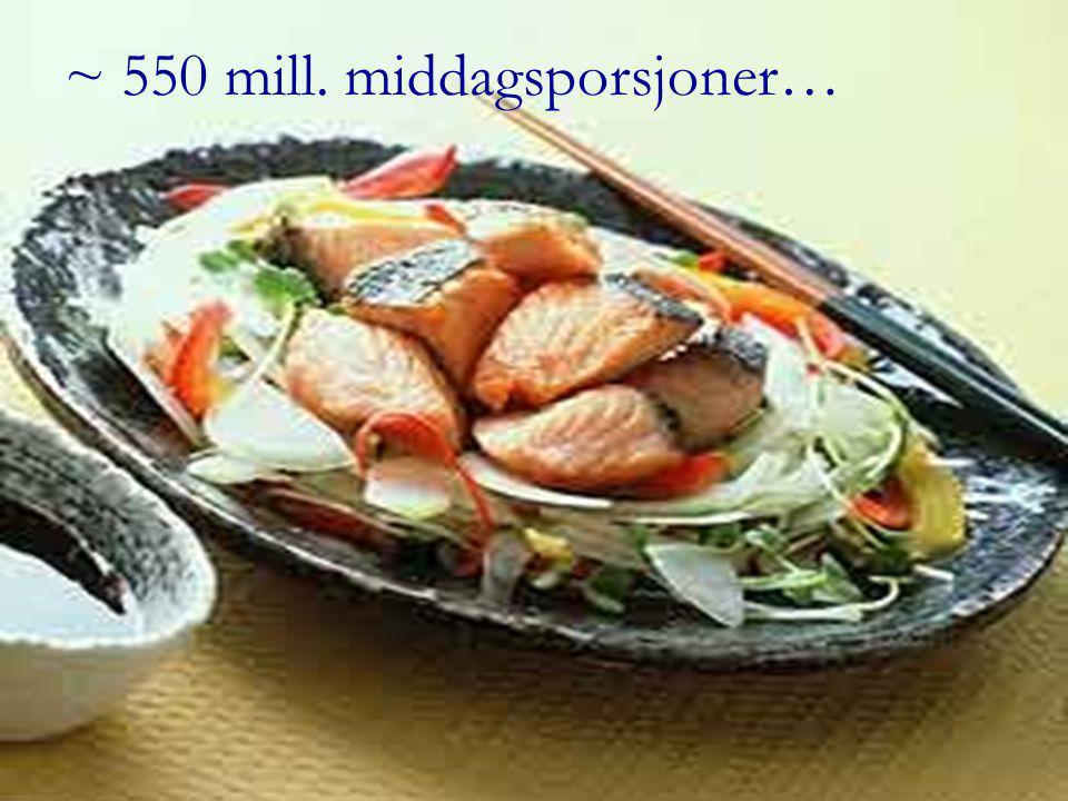 ~ 550 mill. middagsporsjoner…