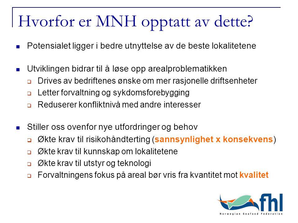 Hvorfor er MNH opptatt av dette? Potensialet ligger i bedre utnyttelse av de beste lokalitetene Utviklingen bidrar til å løse opp arealproblematikken