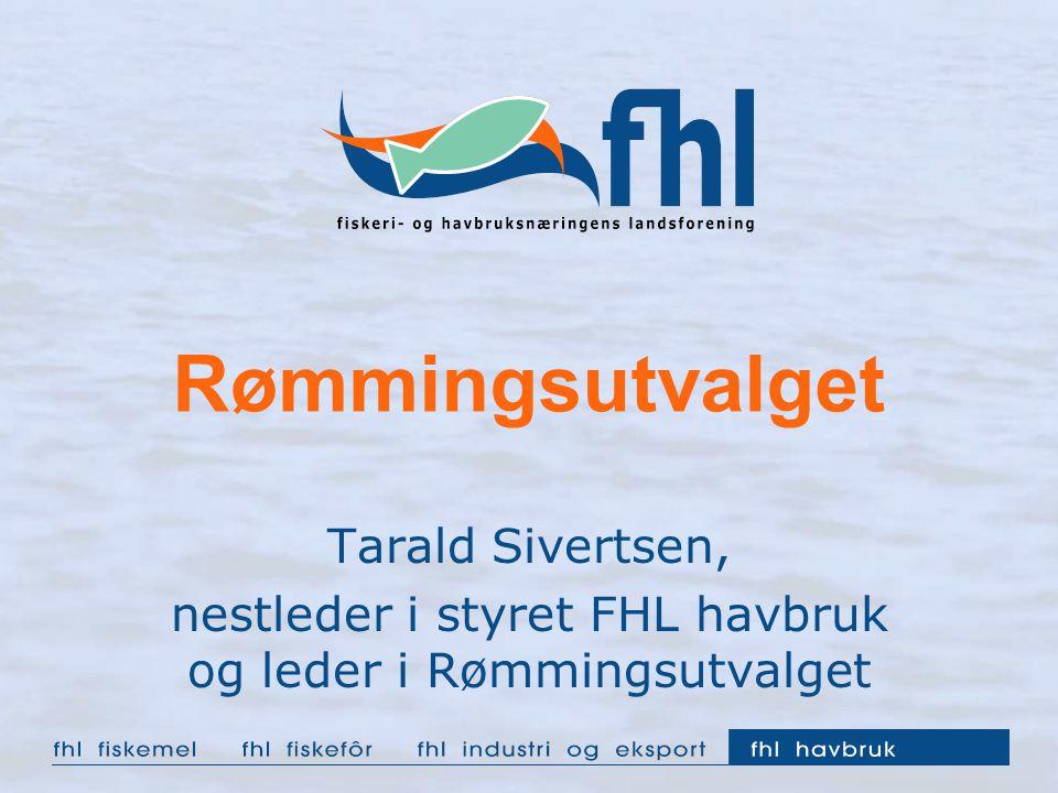 Rømmingsutvalget Tarald Sivertsen, nestleder i styret FHL havbruk og leder i Rømmingsutvalget