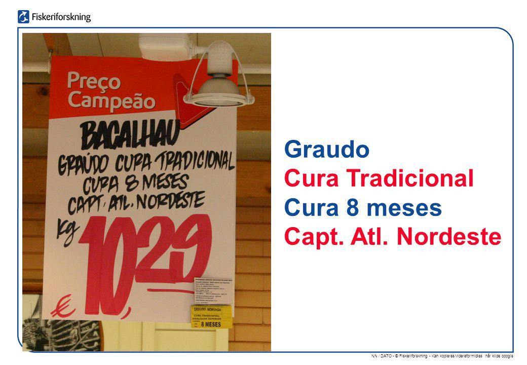 NN / DATO - © Fiskeriforskning - Kan kopieres/videreformidles når kilde oppgis Graudo Cura Tradicional Cura 8 meses Capt.