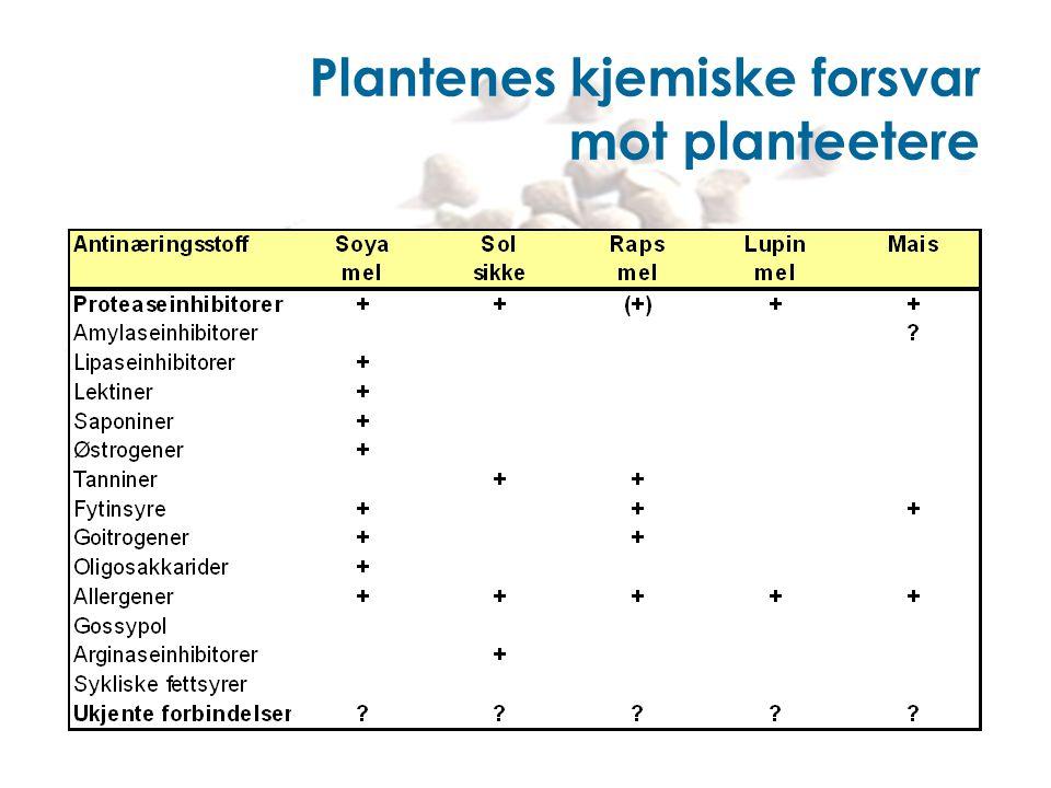 Plantenes kjemiske forsvar mot planteetere