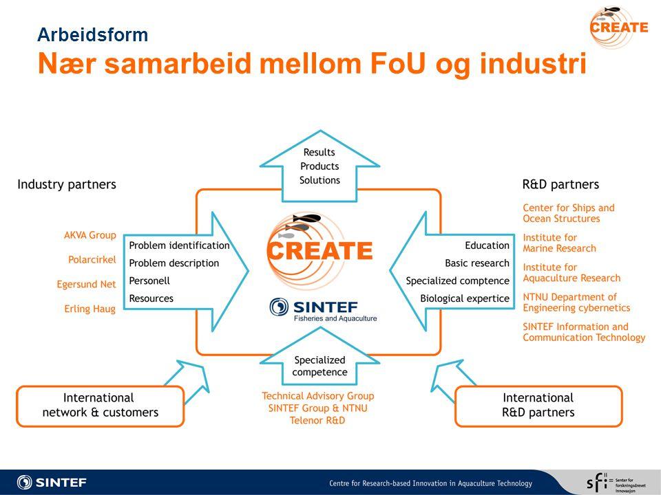Arbeidsform Nær samarbeid mellom FoU og industri