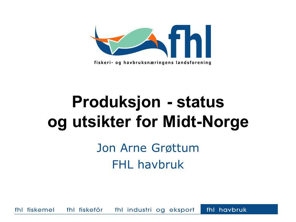 Produksjon - status og utsikter for Midt-Norge Jon Arne Grøttum FHL havbruk
