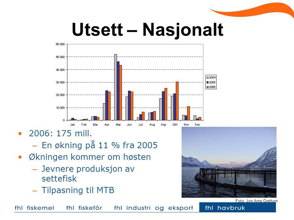 Utsett – Nasjonalt 2006: 175 mill.