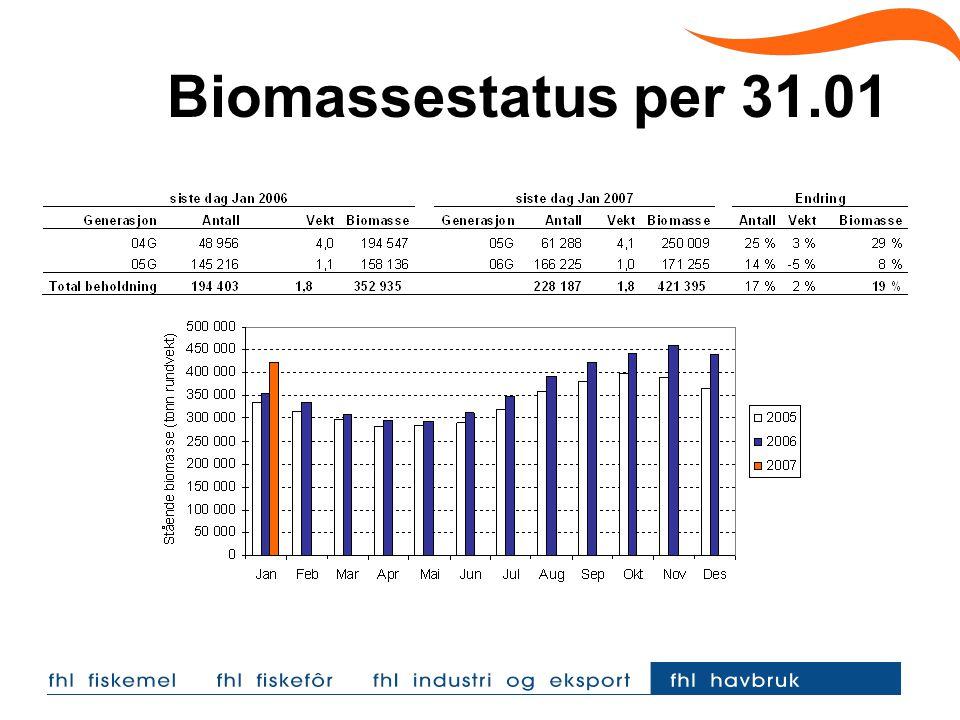 Biomassestatus per 31.01