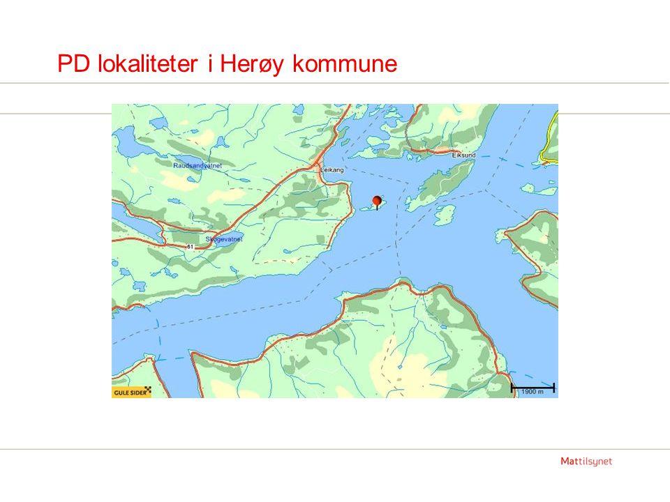 Status PD i Romsdal Midsund kommune: Tre lokaliteter med påvist PD -Lokalitet Juvika.