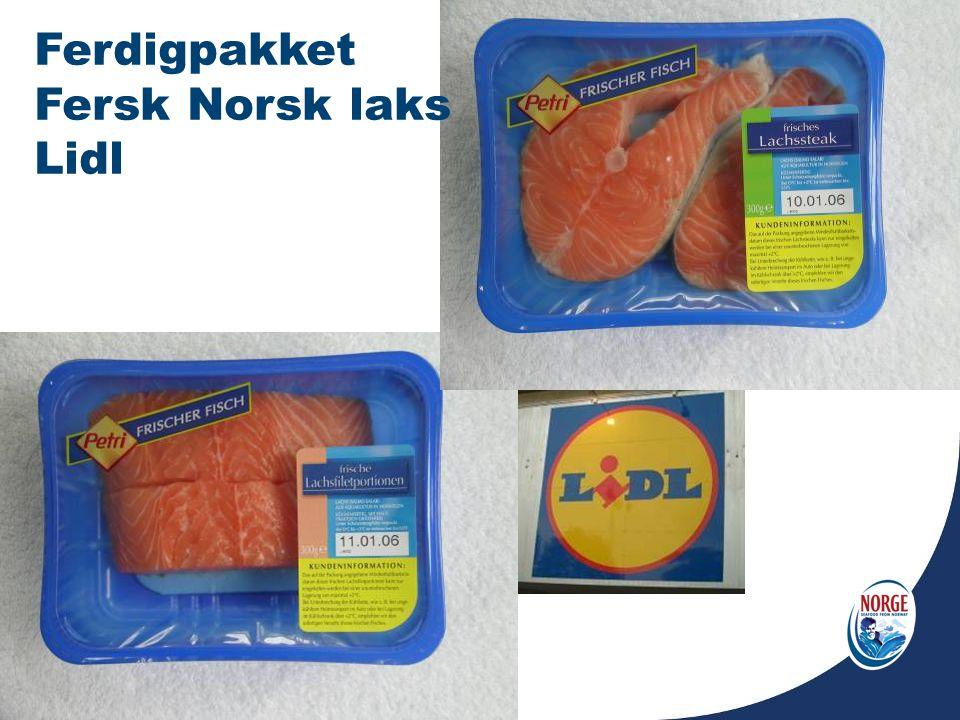 Ferdigpakket Fersk Norsk laks Lidl