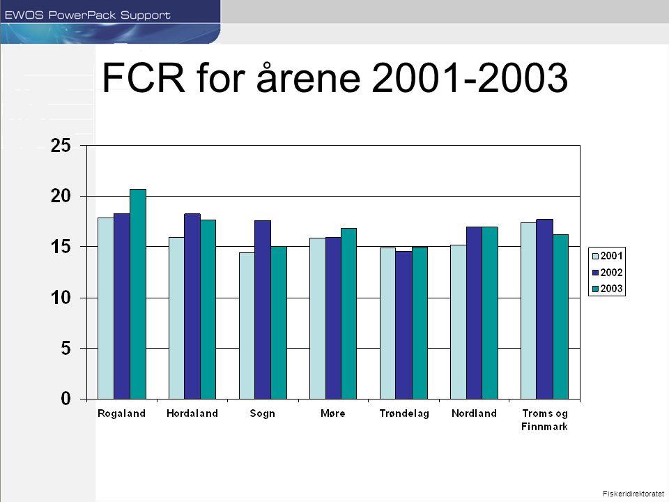 FCR for årene 2001-2003 Fiskeridirektoratet