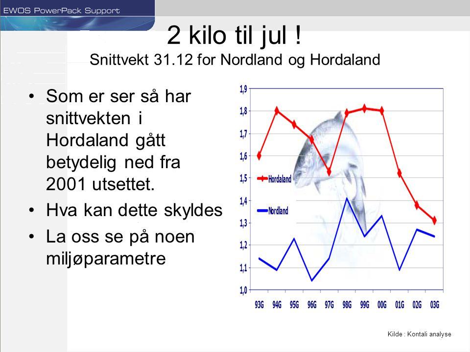 Oppsummering Sammenligninger innad i Norge –Trønderske oppdrettere ser ut til å være de beste i Norge, klimamessig har vi unngått somre med ekstreme sommertemperaturer, men vi har en liten fordel om vinteren sammenlignet med oppdrettere lengre nord Sammenligninger med Chile –Den største forskjellen er temperatur regimene.