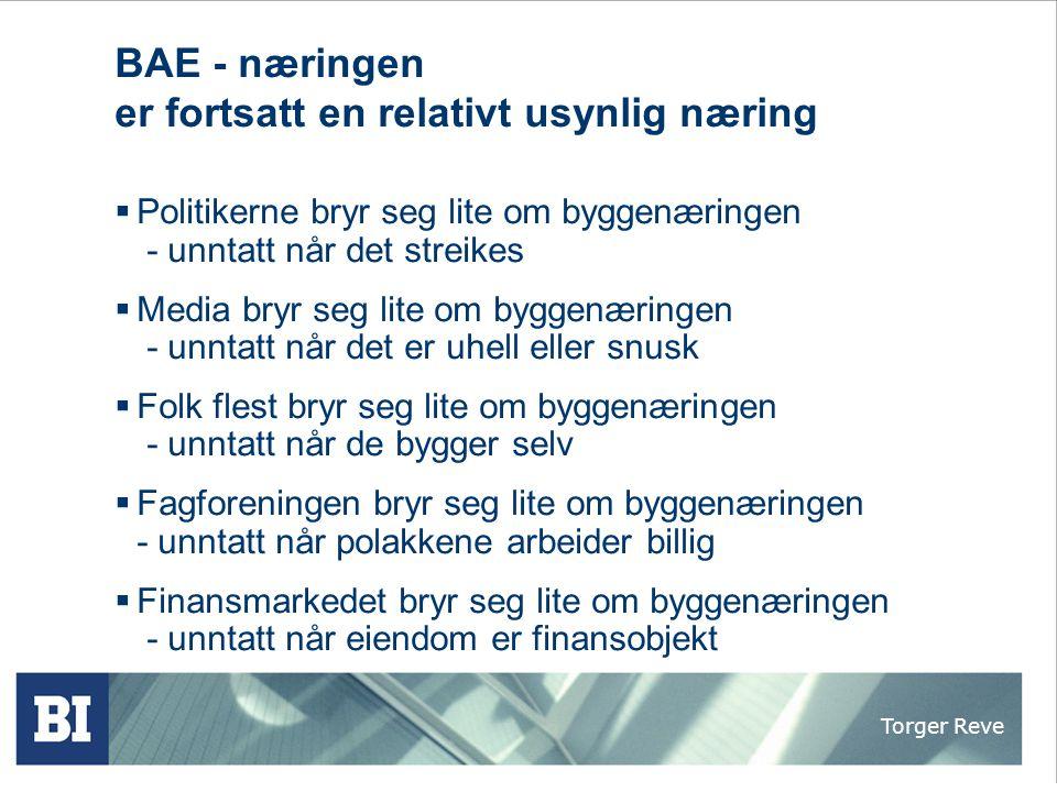 Torger Reve Byggenæringen – Norges største ikke-næring