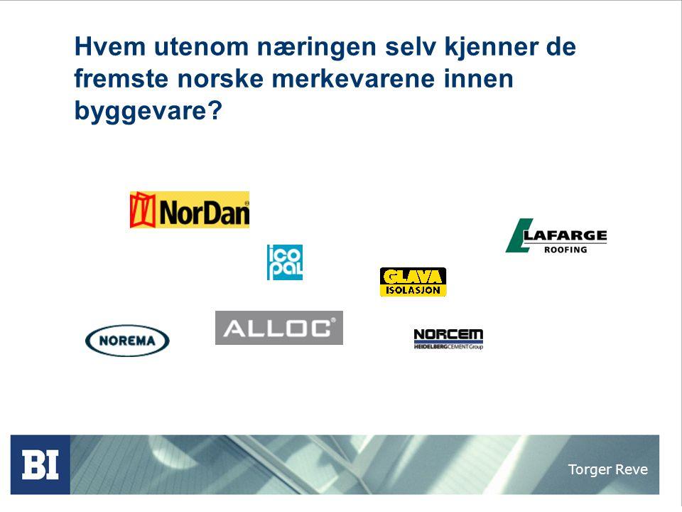 Torger Reve Kontrakt - 50% Proff - 25% Privat 0% Byggmax