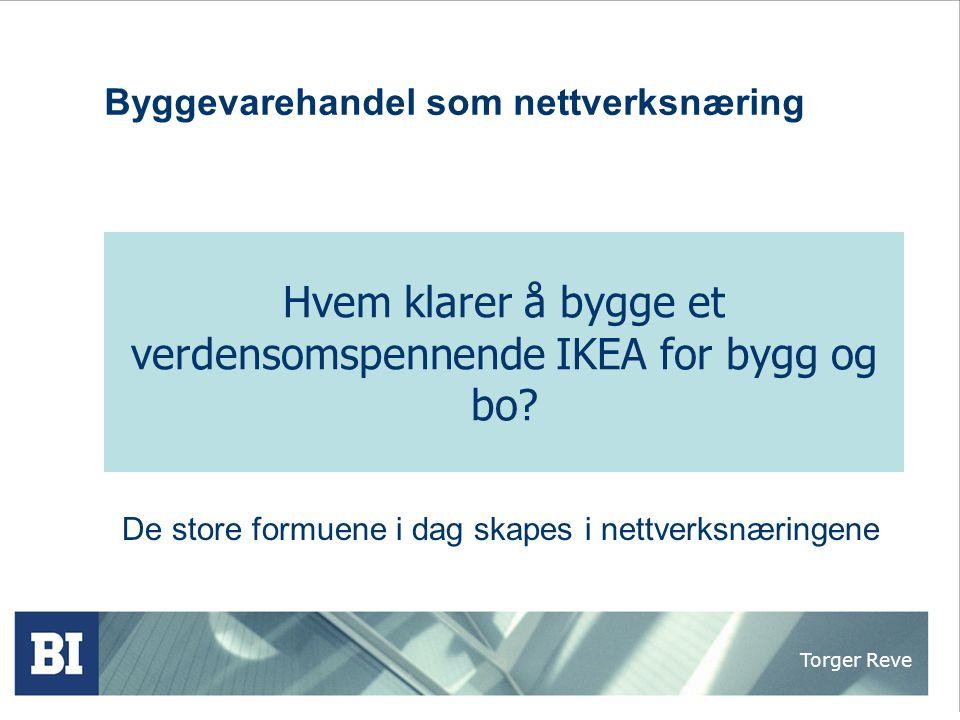 Torger Reve Norsk byggenæring har et innovasjonspotensial i verdensklasse  Fremst innen internasjonal arkitektur e.g.