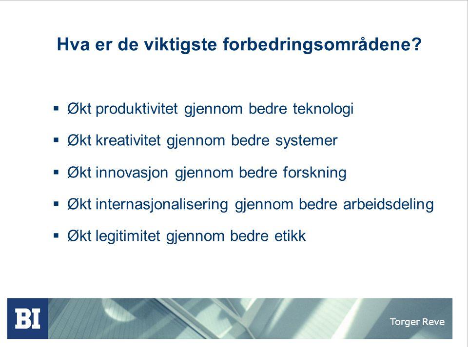 Torger Reve Byggevarehandel som nettverksnæring Hvem klarer å bygge et verdensomspennende IKEA for bygg og bo.